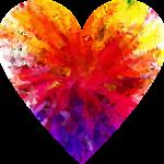colourful diamond heart
