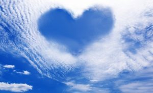 Sky Heart surrounded by clouds