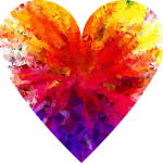 colourful diamond heart